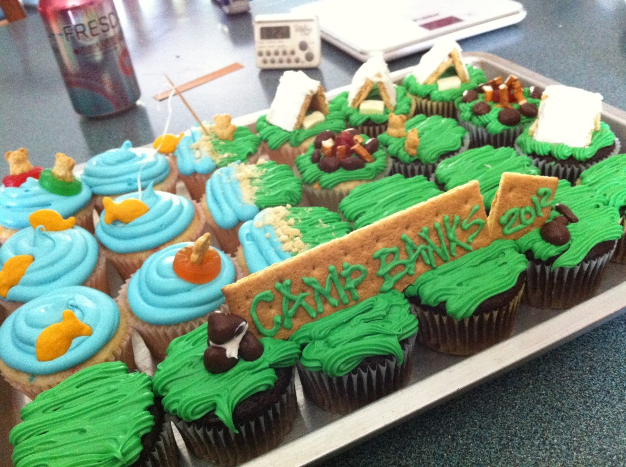 Camping Themed Cupcakes  fuck yeah cupcakes Camping Party Cupcakes Chocolate cake