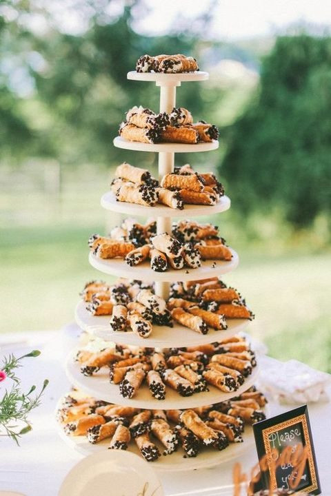 Cannoli Wedding Cakes  40 Non Traditional Wedding Cakes You'll Love