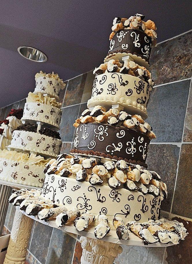 Cannoli Wedding Cakes  Cannoli wedding cake Wedding Pinterest