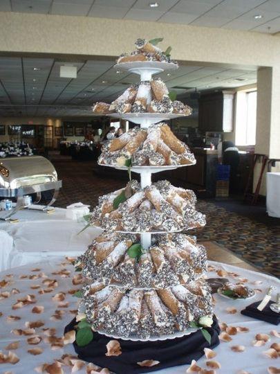 Cannoli Wedding Cakes  Caramici s Bakery Wedding Cake Amherst NY WeddingWire