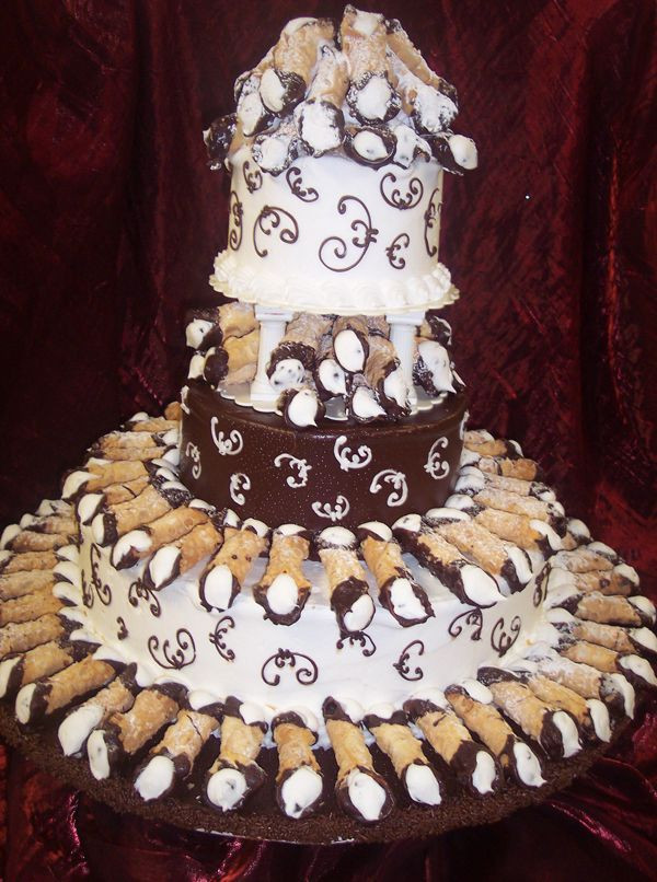 Cannoli Wedding Cakes  Cannoli wedding cake idea in 2017