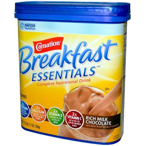 Carnation Breakfast Essentials Healthy  Carnation Instant Breakfast Powder Rich Milk Chocolate 17