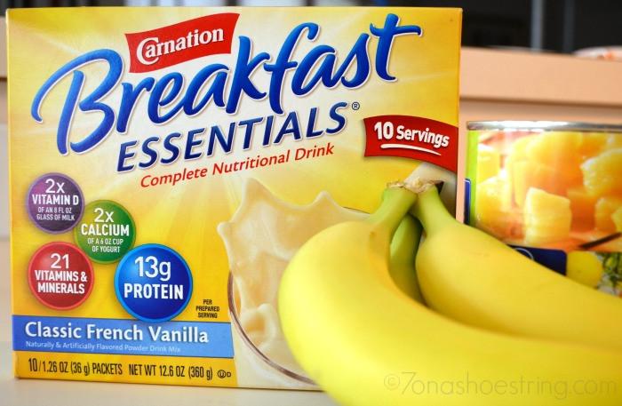 Carnation Breakfast Essentials Healthy  Pina Colada Smoothie Carnation Breakfast Essentials