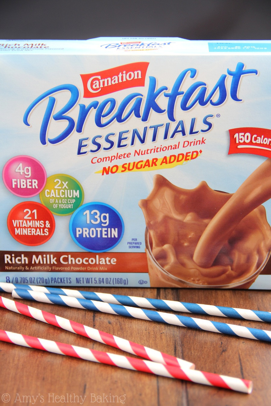 Carnation Breakfast Essentials Healthy  Chocolate Covered Strawberry Smoothie with Carnation