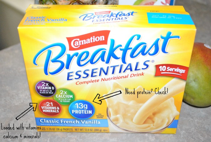 Carnation Breakfast Essentials Healthy  Tropical Breakfast Smoothie