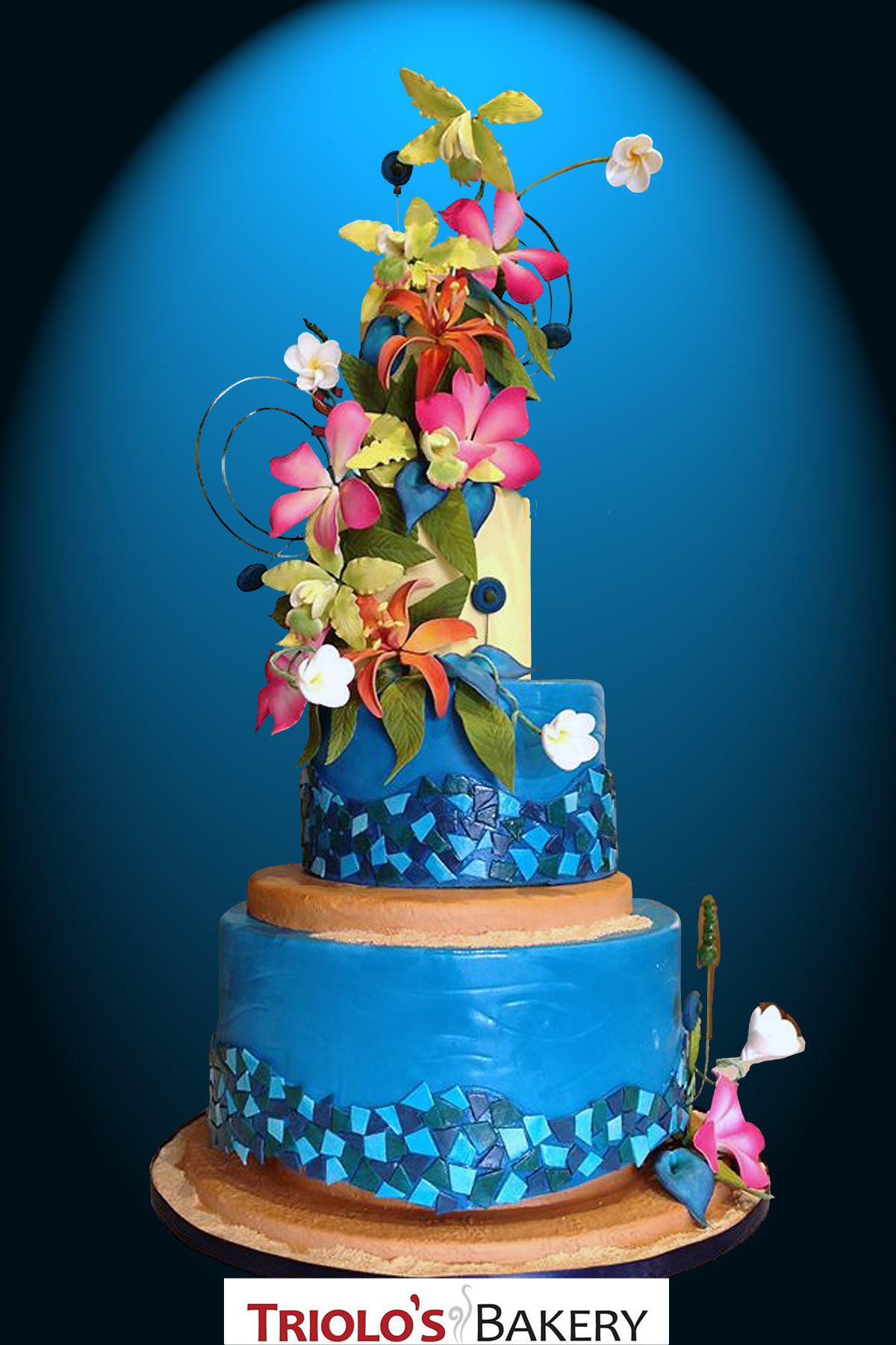 Carribean Wedding Cakes  Caribbean Wedding Cake Triolo s Bakery
