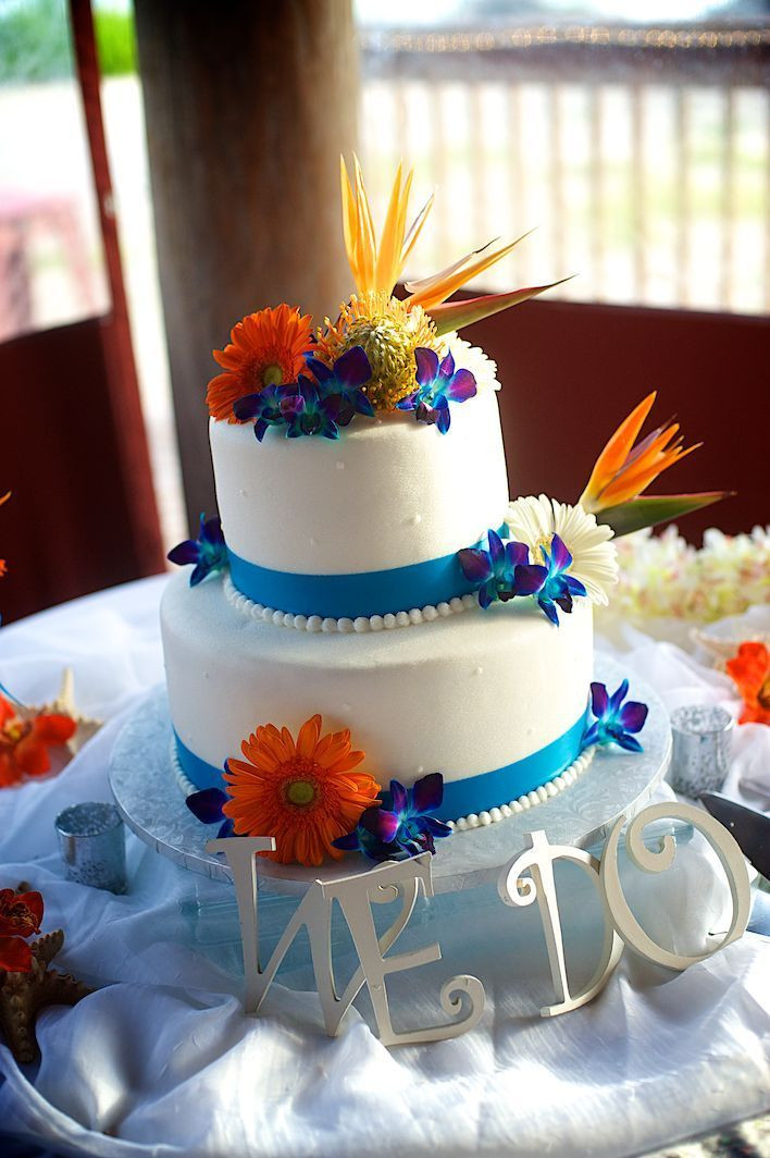 Carribean Wedding Cakes  29 best Colorful Orange and Carribean Blue Wedding images