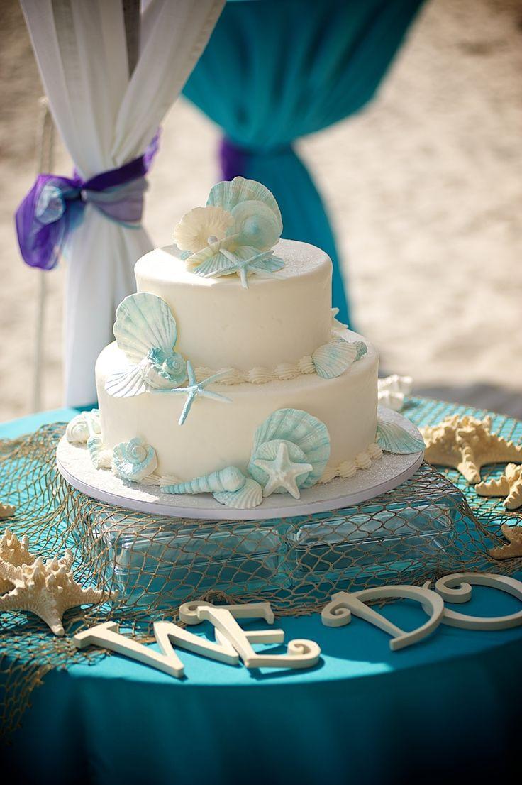 Carribean Wedding Cakes  31 best Carribean Blue Beach Weddings images on Pinterest