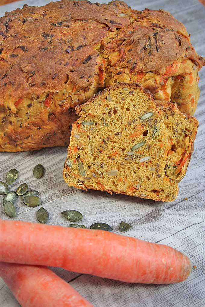 Carrot Bread Healthy  Three Seed Multigrain Carrot Bread for Healthy Snacking