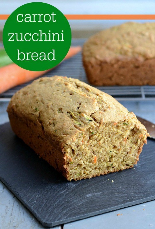 Carrot Bread Recipe Healthy  Carrot Zucchini Bread Recipe Real Food Real Deals
