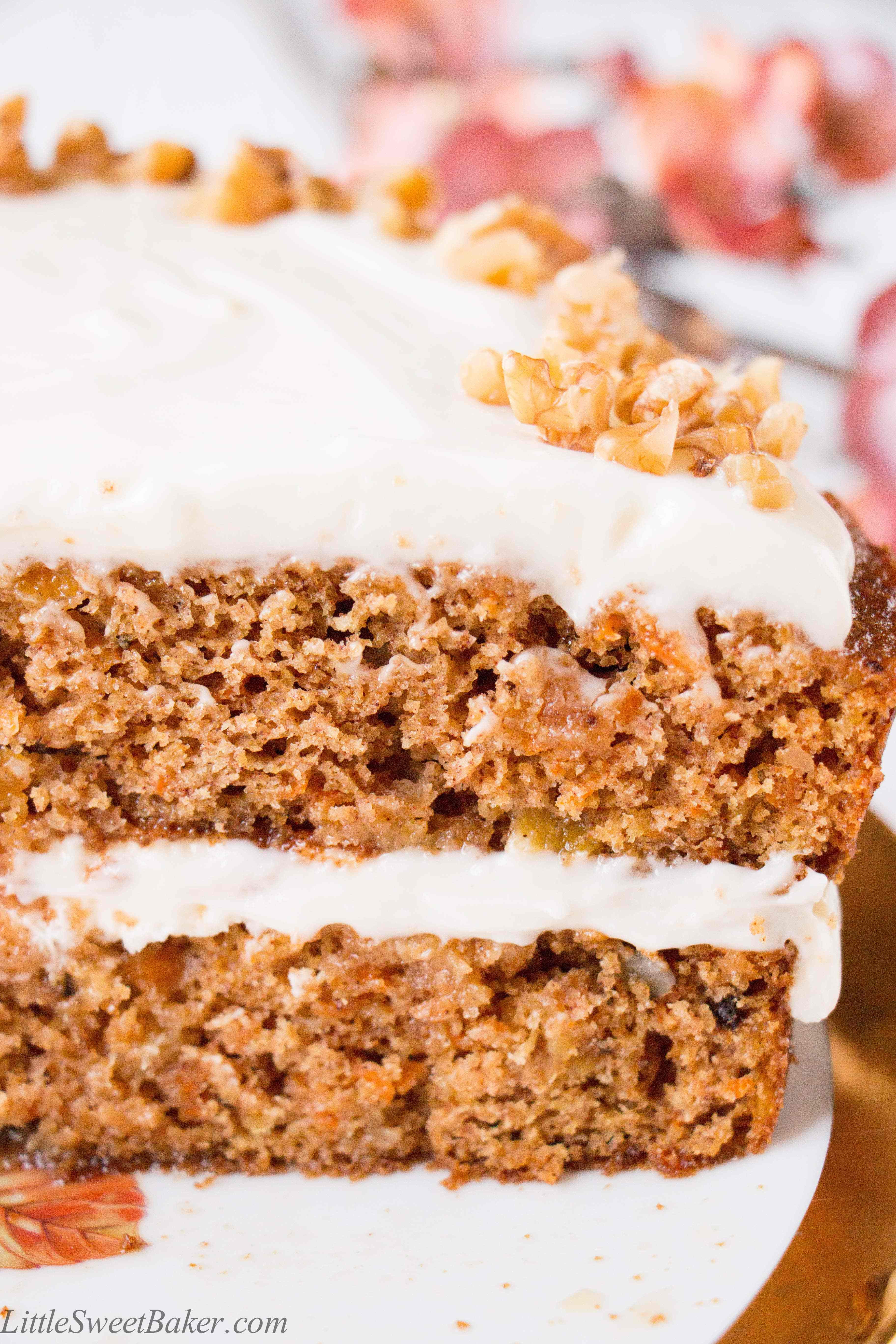 Carrot Cake Healthy  Healthy Carrot Cake with Yogurt Cream Cheese Frosting