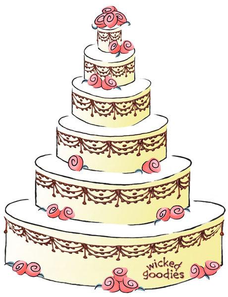 Cartoon Wedding Cakes  How to Write a Cake Contract