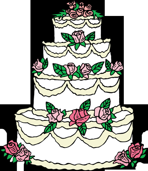 Cartoon Wedding Cakes  Best Wedding Cake Clip Art Clipartion