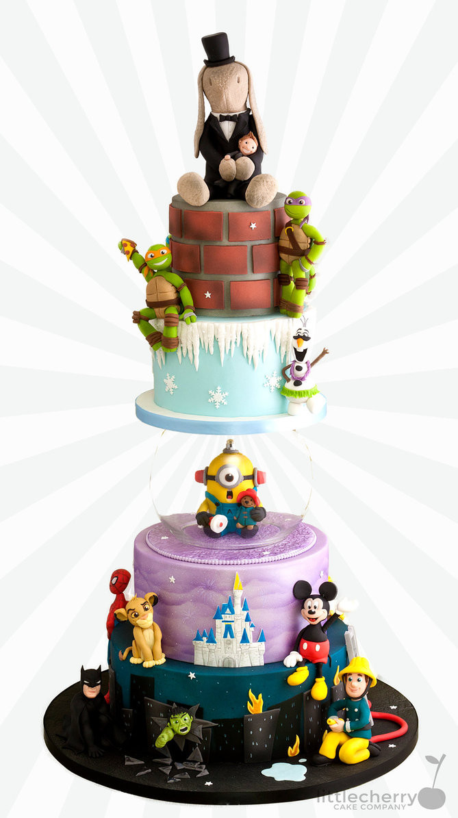 Cartoon Wedding Cakes  BlackCherryCake Tracey