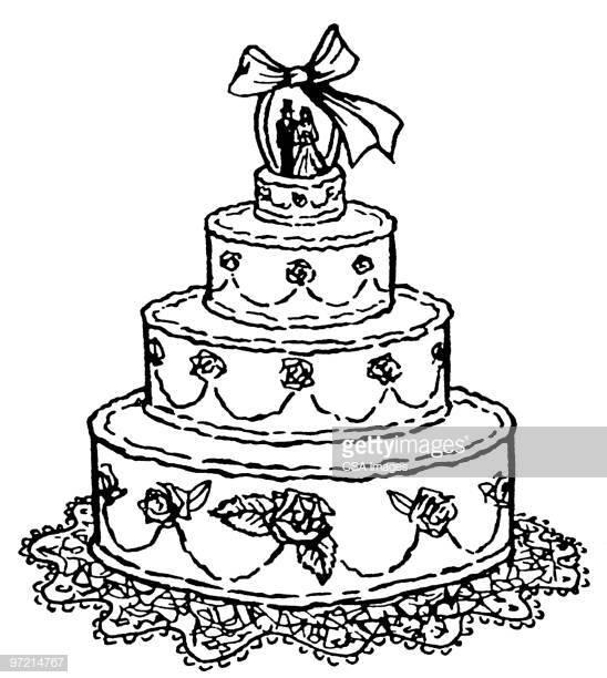 Cartoon Wedding Cakes  Wedding Cake Stock Illustrations And Cartoons