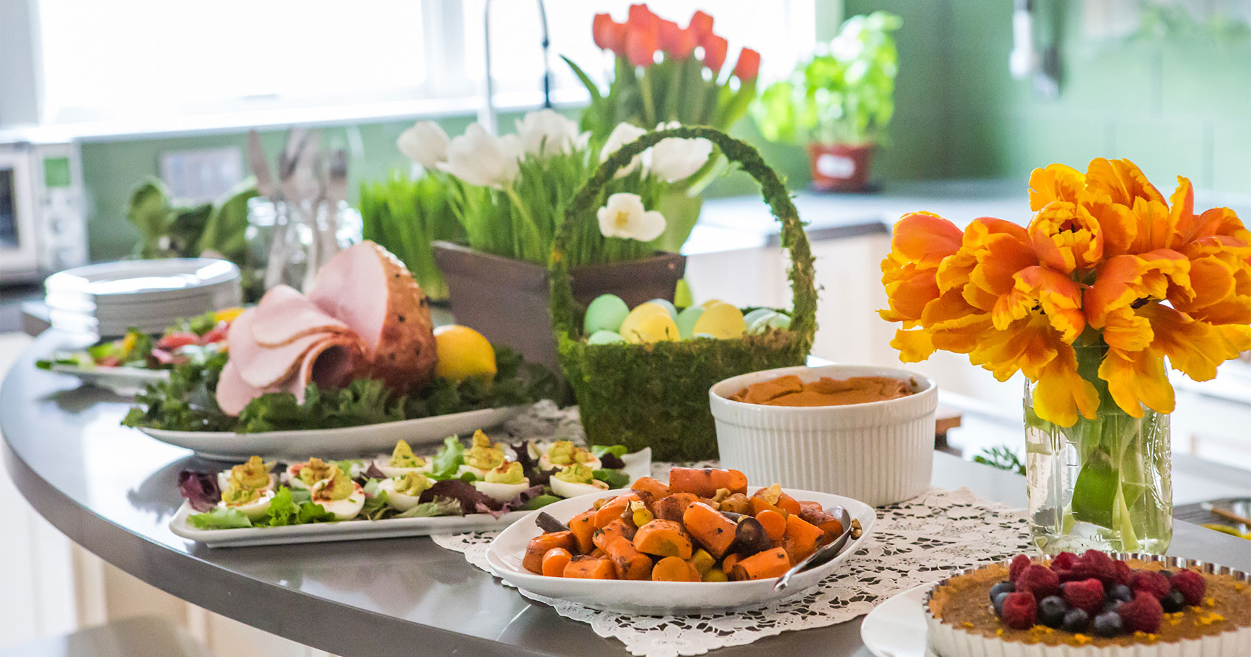 Catered Easter Dinner  Chains jockey for heat and eat Easter sales