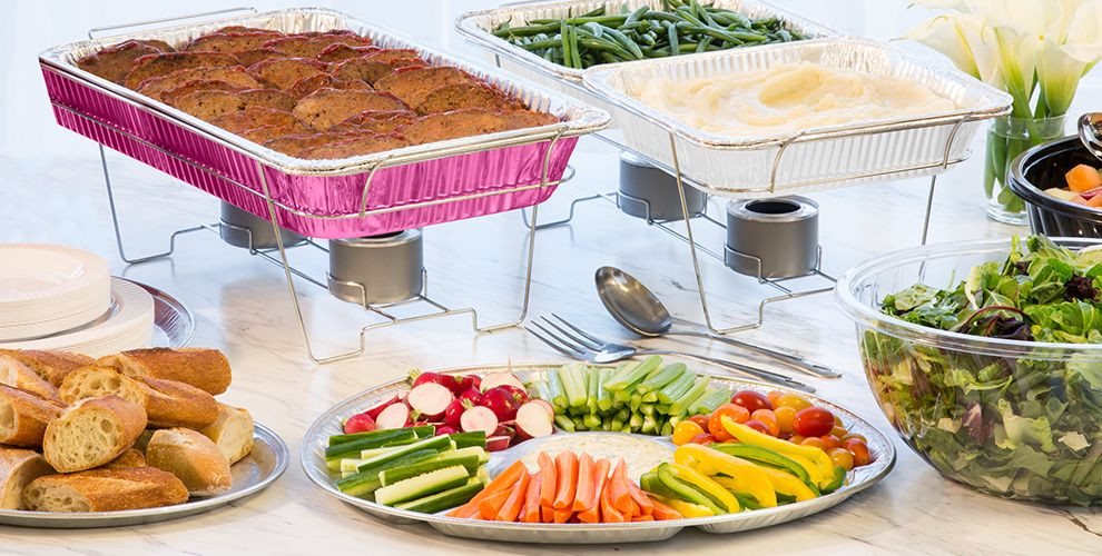 Catered Easter Dinner  Baby Shower Chafing Dishes & Aluminum Pans