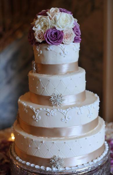 Champagne Color Wedding Cakes  my wedding cake inspiration ivory cake swirls cushion