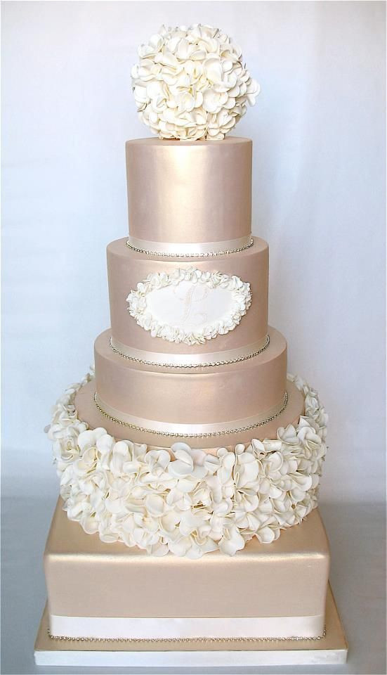 Champagne Color Wedding Cakes  Best 25 Champagne wedding cakes ideas on Pinterest