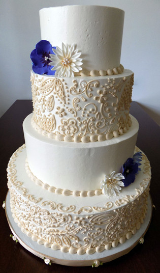 Champagne Color Wedding Cakes  Buttercream Wedding Cakes York PA Buttercream wedding