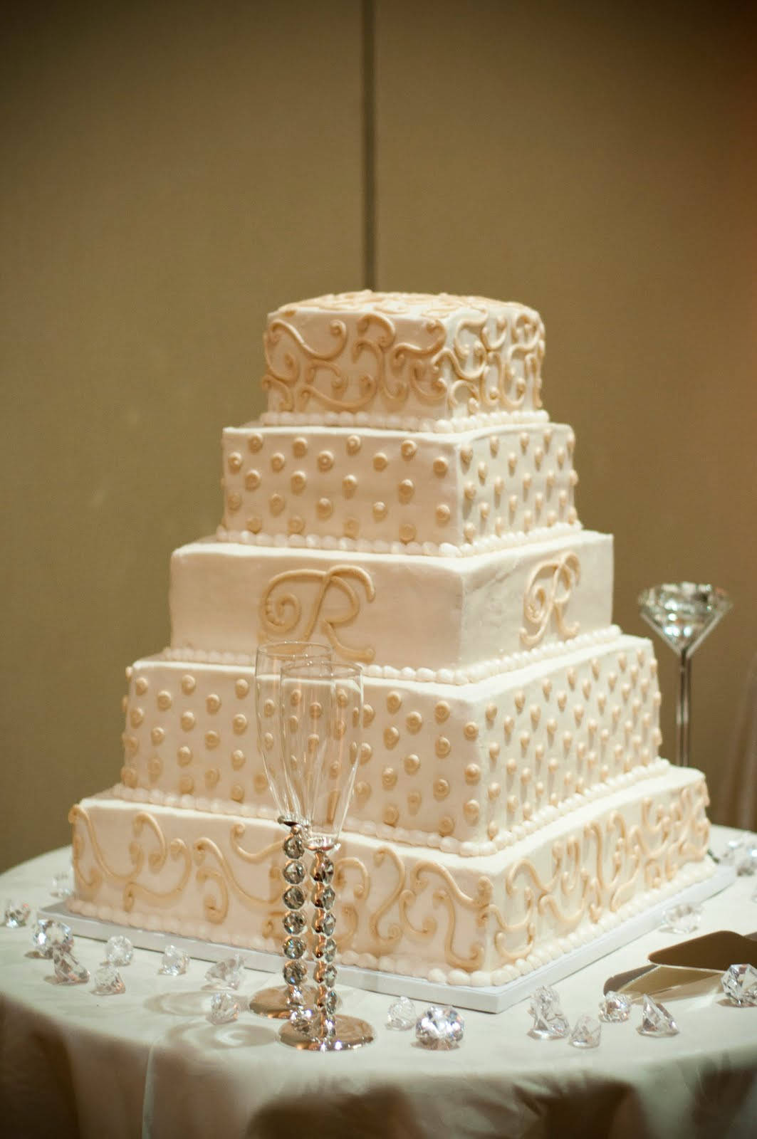 Champagne Colored Wedding Cakes  Champagne colored wedding cakes idea in 2017