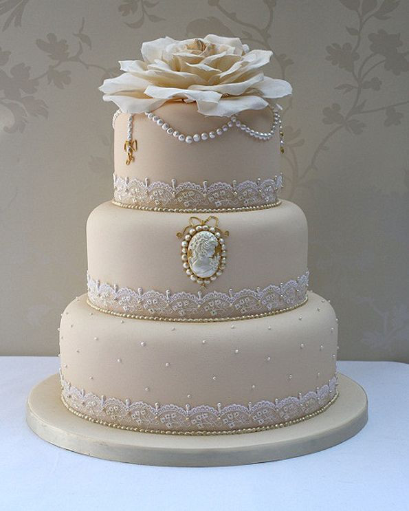Champagne Coloured Wedding Cakes  Champagne Color Wedding Cakes