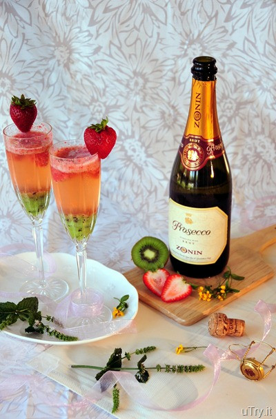 Champagne Drinks For Summer  uTry Kiwi Strawberry Bellini Perfect for Celebrations