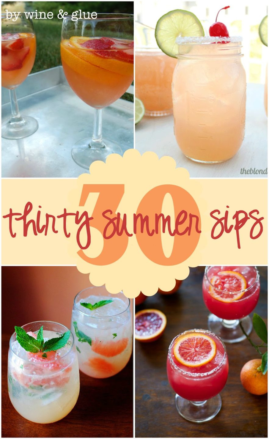 Champagne Drinks For Summer  30 Delicious Summer Cocktails Wine & Glue