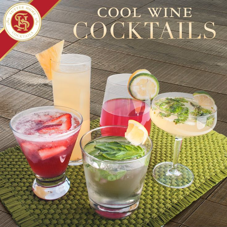 Champagne Drinks For Summer  Cool Wine Cocktails Wine Cocktails