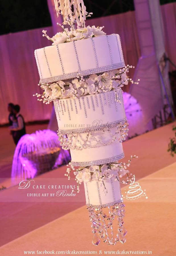 Chandelier Wedding Cakes  White Chandelier Cake cake by D Cake Creations CakesDecor