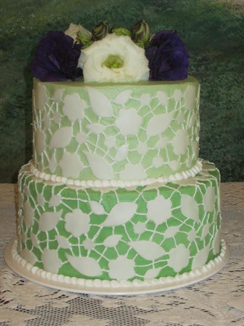 Chantilly Wedding Cakes  Melissa s Cakery Chantilly Lace Wedding Cake