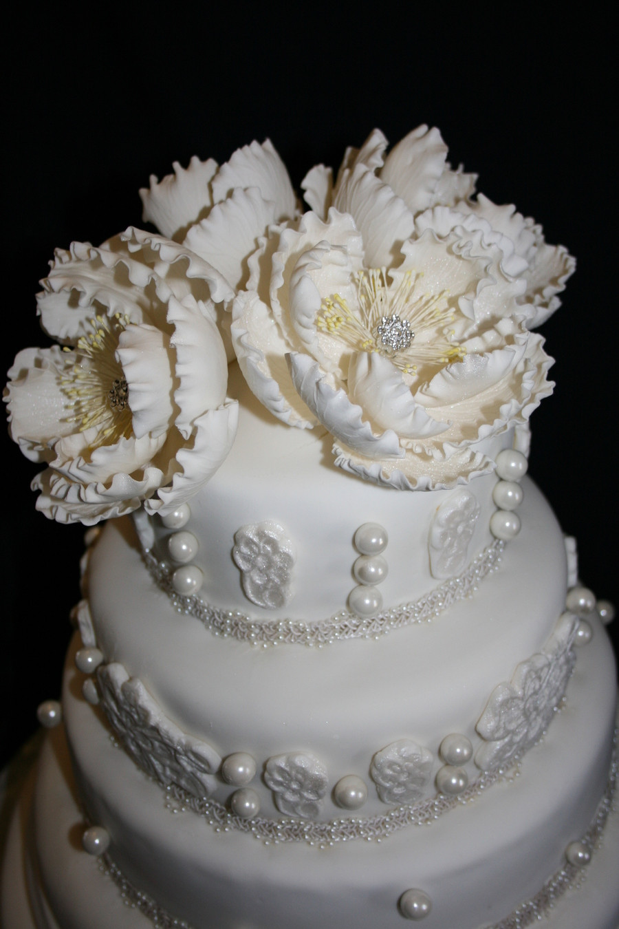Chantilly Wedding Cakes  Chantilly Lace Wedding Cake CakeCentral