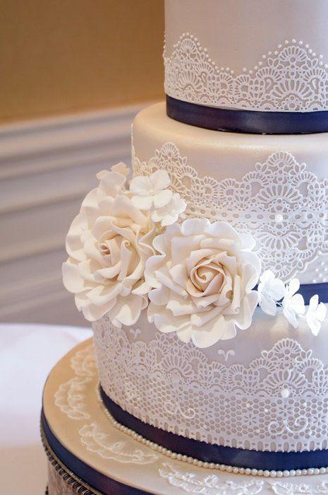 Chantilly Wedding Cakes  Chantilly lace wedding cake …