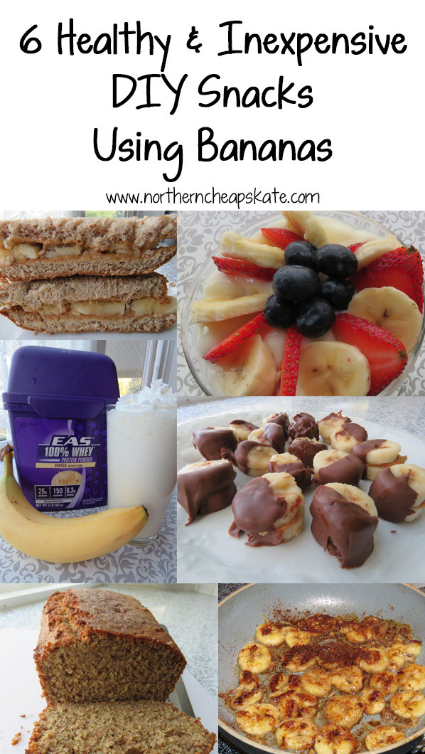 Cheap And Healthy Snacks  6 Healthy and Inexpensive DIY Snacks Using Bananas