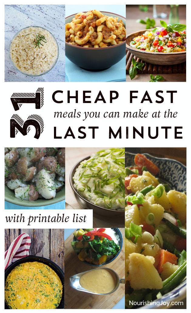 Cheap Easy Healthy Lunches  31 Cheap Last Minute Real Food Dinner Ideas Nourishing Joy