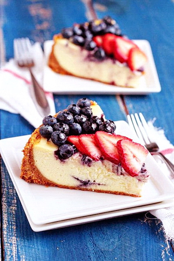 Cheap Healthy Desserts  July 4th Cheesecake – Best Cheap Healthy Patriotic Holiday