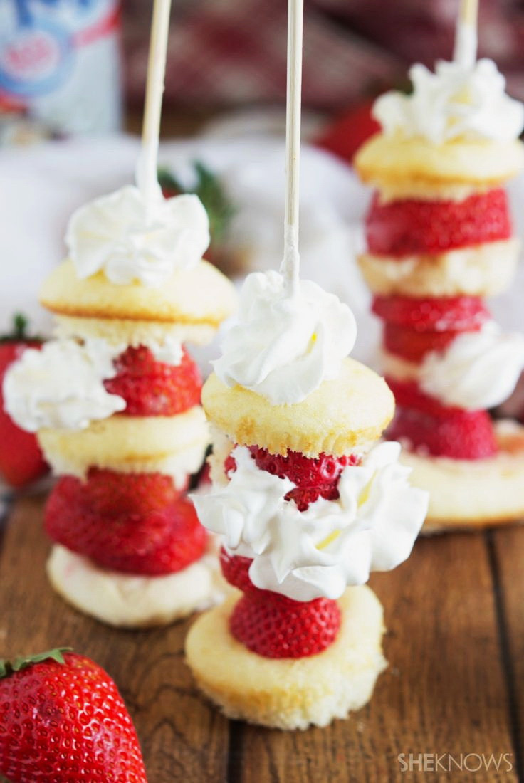 Cheap Healthy Desserts  Strawberry Shortcake Kabob – Best Cheap Healthy Party