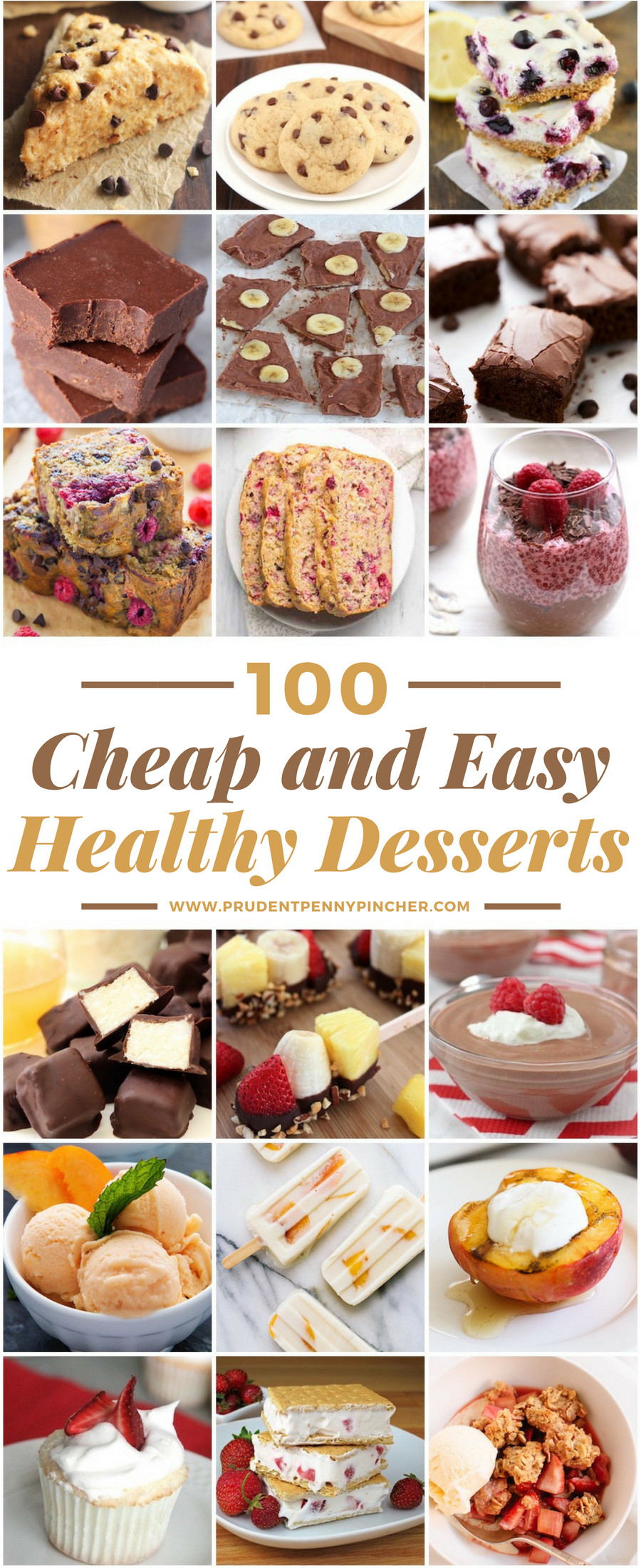 Cheap Healthy Desserts  100 Cheap and Easy Healthy Desserts Prudent Penny Pincher