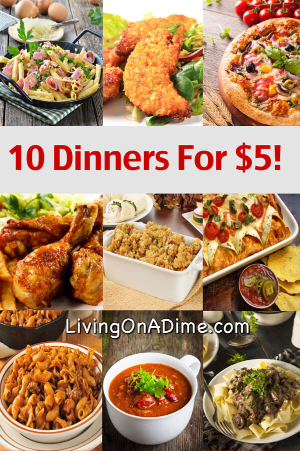 Cheap Healthy Dinner Recipes  10 Dinners For $5 Cheap Dinner Recipes And Ideas