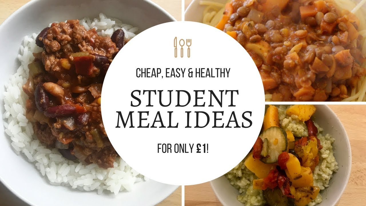 Cheap Healthy Dinners For 1  CHEAP STUDENT MEAL IDEAS Healthy dinners for £1