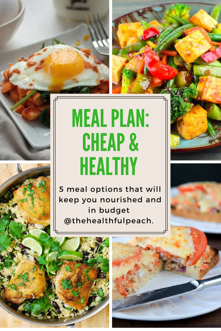 Cheap Healthy Dinners For Two  Meal Plan Healthy & Cheap Dinners The Healthful Peach