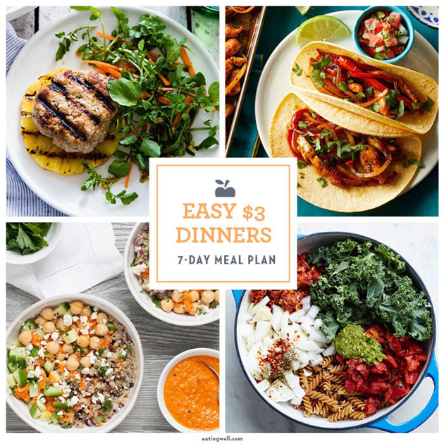 Cheap Healthy Dinners For Two  7 Day Meal Plan Easy Cheap 3 Dinners EatingWell Expert