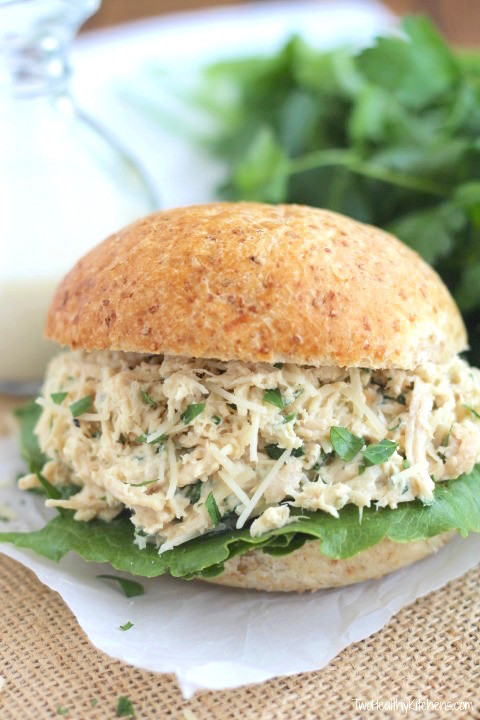 Cheap Healthy Dinners For Two  Crock Pot Chicken Caesar Sandwiches Two Healthy Kitchens