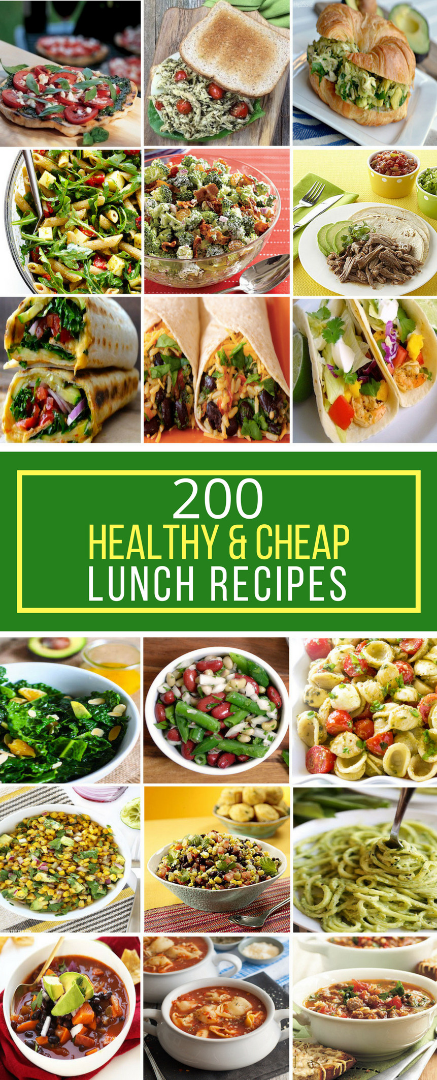 Cheap Healthy Lunches  200 Healthy & Cheap Lunch Recipes Prudent Penny Pincher