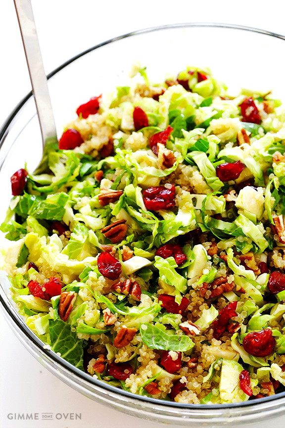 Cheap Healthy Salads  Cranberry & Brussels Sprout Salad – Best Cheap Healthy