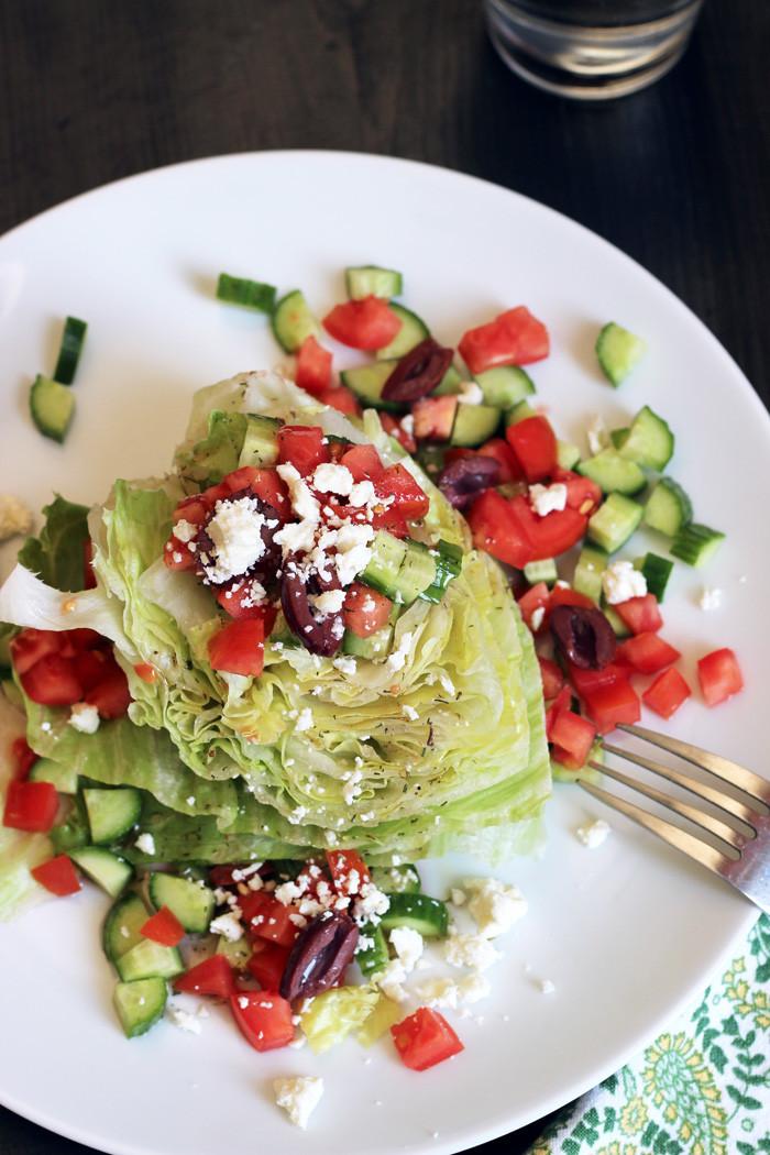 Cheap Healthy Salads  Greek Wedge Salad Good Cheap Eats