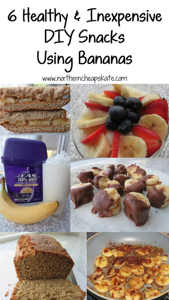 Cheap Healthy Snacks  6 Healthy and Inexpensive DIY Snacks Using Bananas