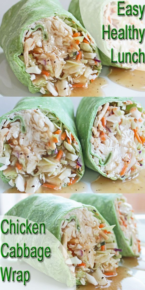 Cheap Healthy Snacks For Weight Loss  Healthy Lunch Recipe Chicken and Cabbage Wrap