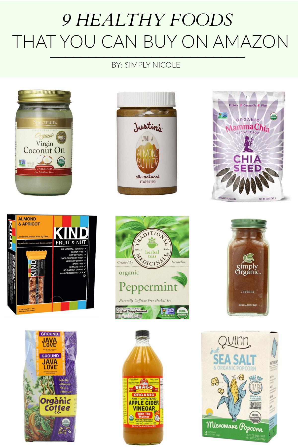 Cheap Healthy Snacks To Buy  9 Healthy Foods that You Can Buy on Amazon Simply Nicole