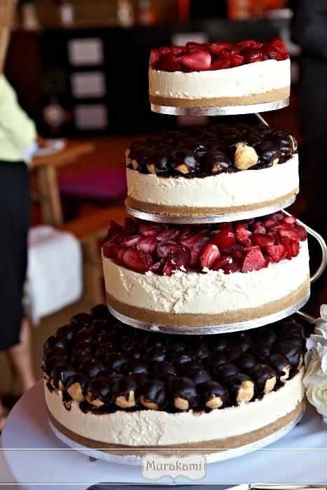Cheesecake Wedding Cakes  Contemporary Weddings by Murakami graphy May 2012